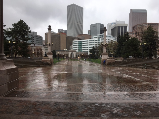 Denver, Colorado in the rain.