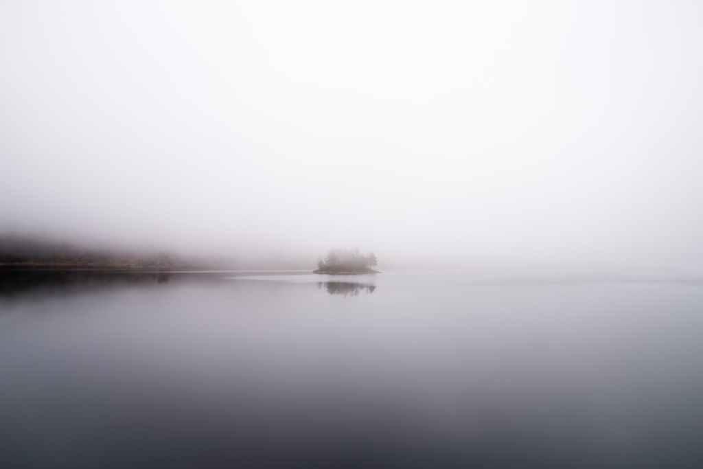 Mist on a pond